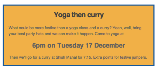 Yoga and curry