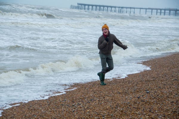 YOGALEN swims in the sea for new year